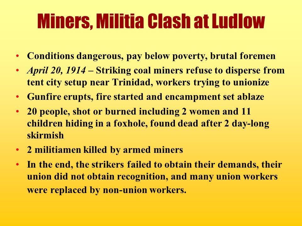 Miners, Militia Clash at Ludlow