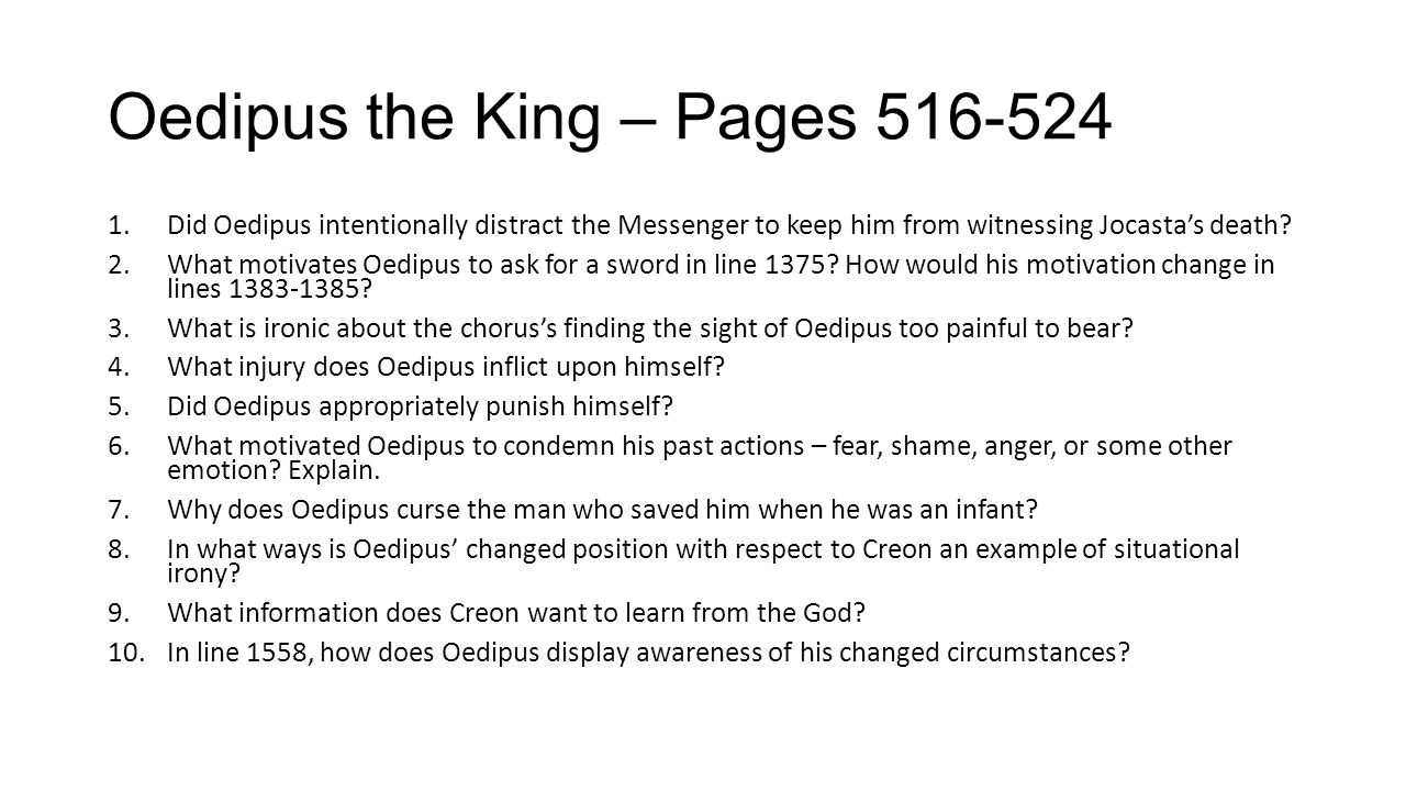 Oedipus the King – Pages 516-524