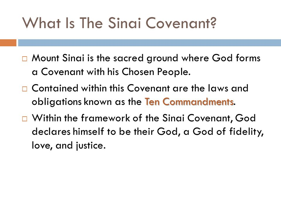 What Is The Sinai Covenant