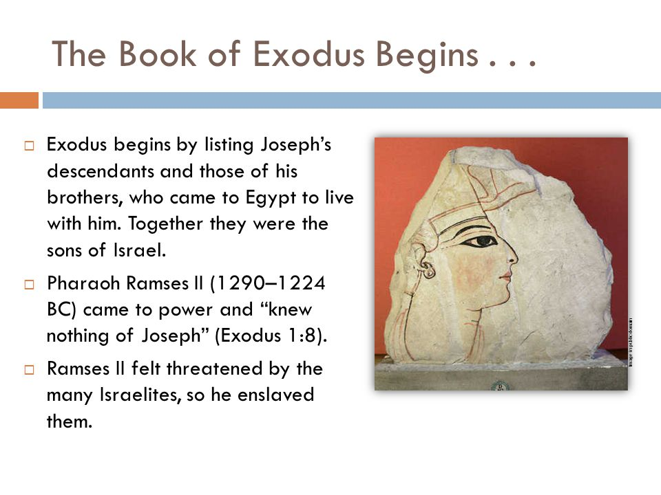 The Book of Exodus Begins . . .