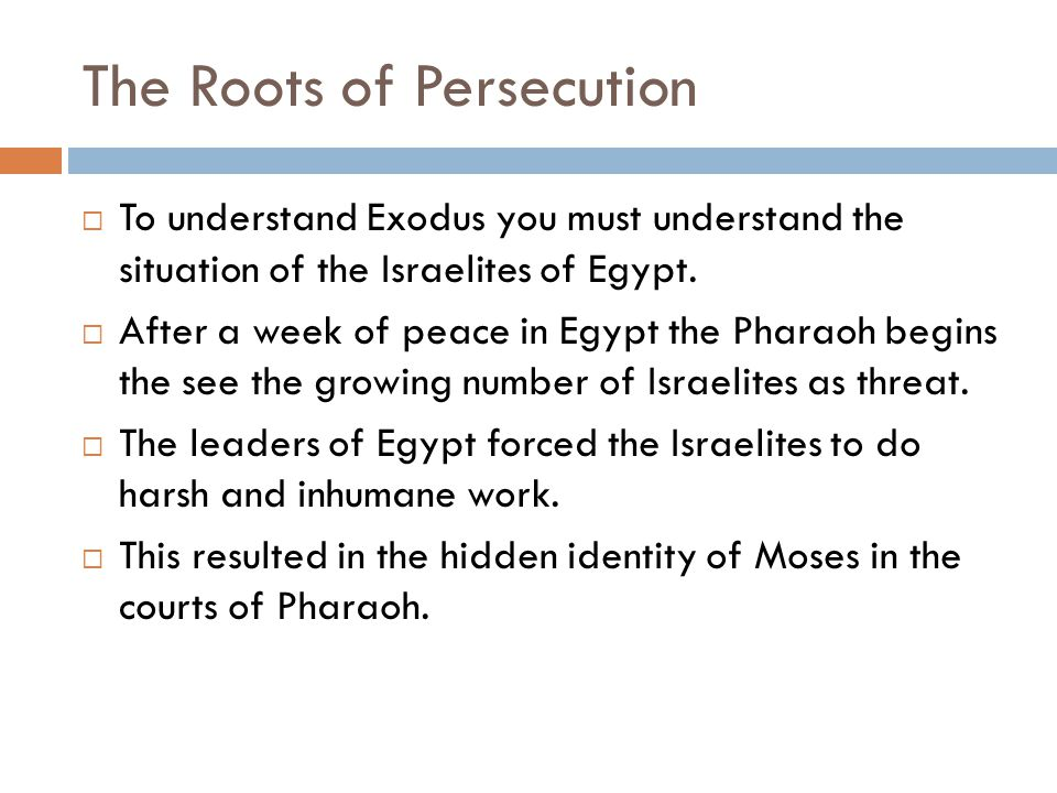 The Roots of Persecution