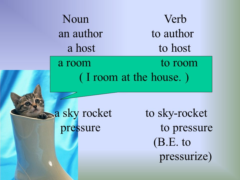 a sky rocket to sky-rocket pressure to pressure (B.E. to pressurize)