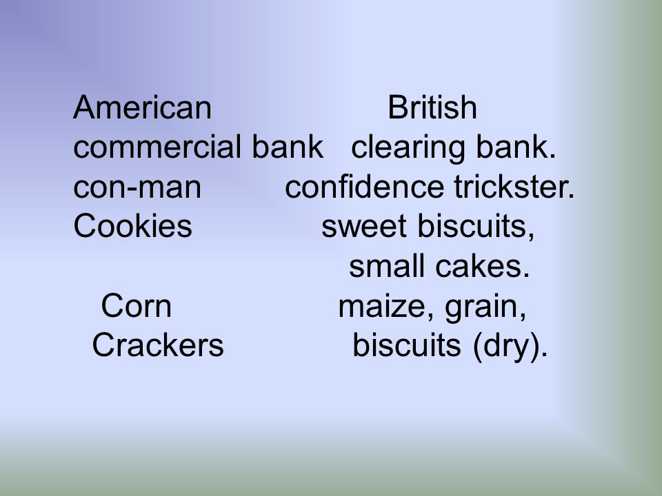 American British commercial bank clearing bank. con-man confidence trickster.
