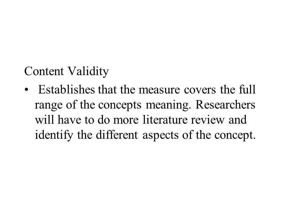 Content Validity