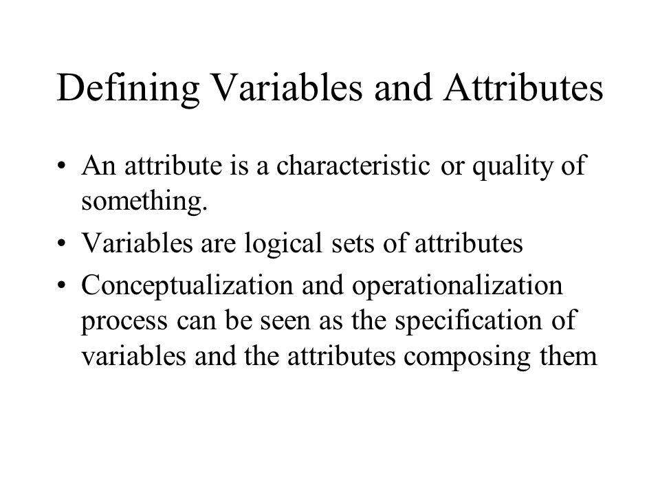 Defining Variables and Attributes