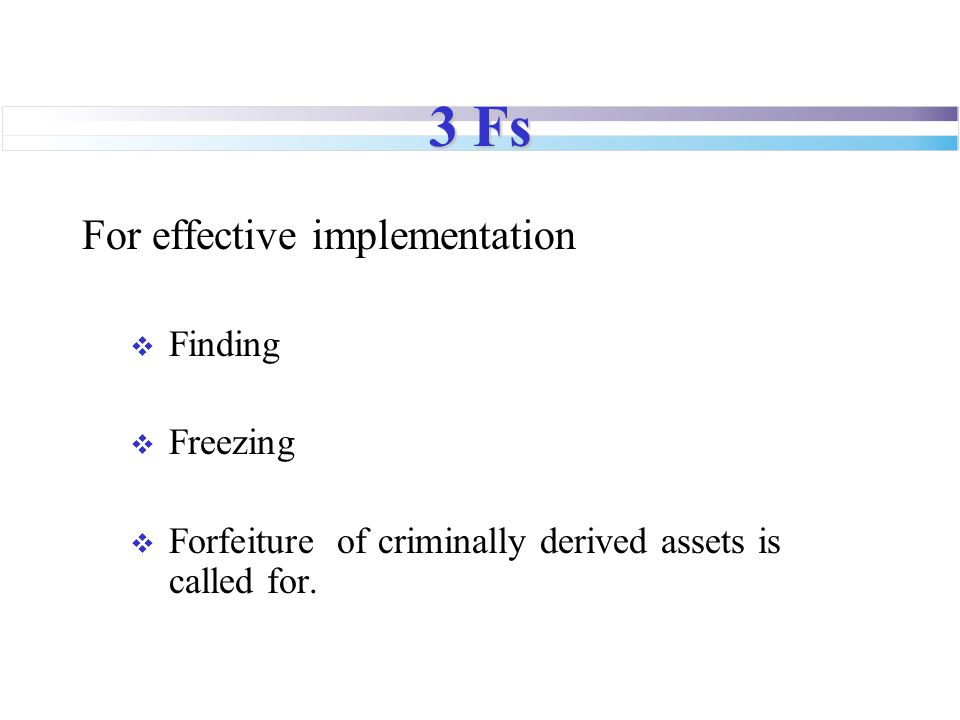 3 Fs For effective implementation Finding Freezing