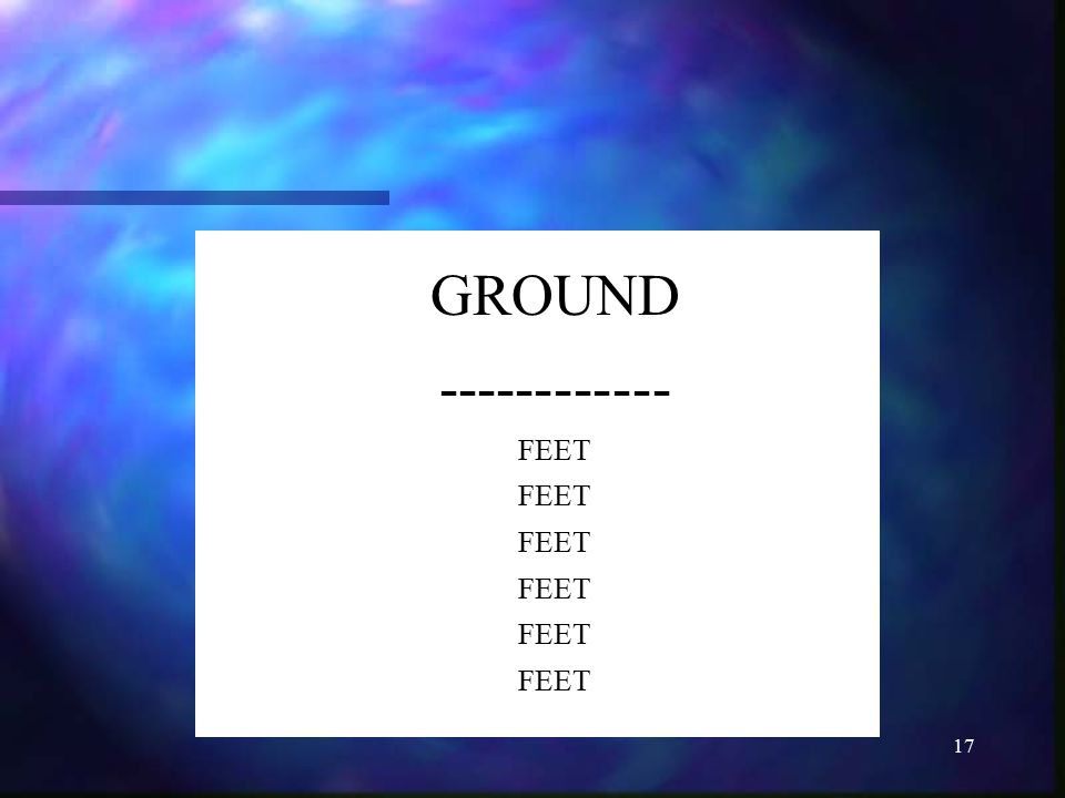 GROUND ------------ FEET