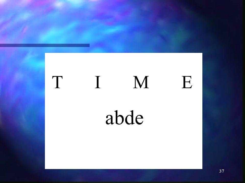 T I M E abde
