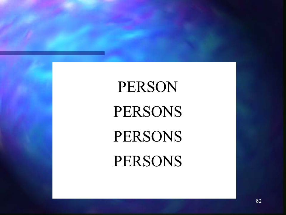 PERSON PERSONS