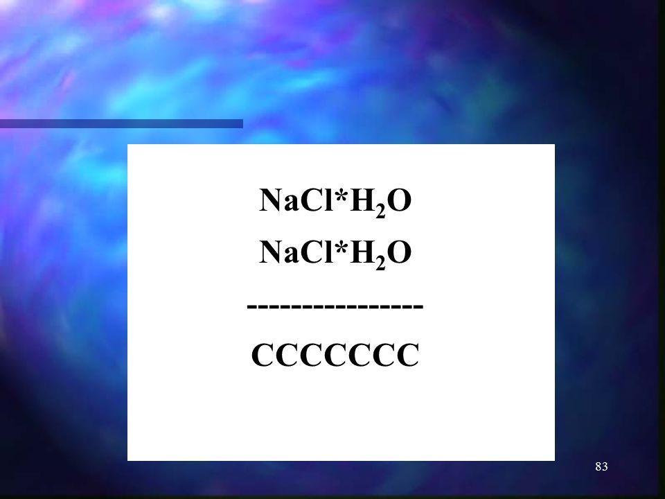 NaCl*H2O ---------------- CCCCCCC