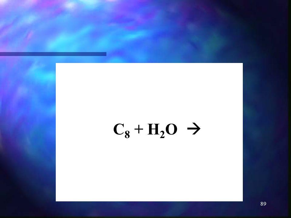 C8 + H2O 