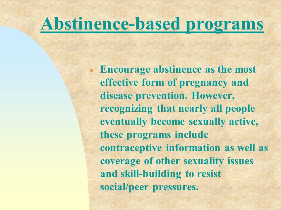 Abstinence-based programs