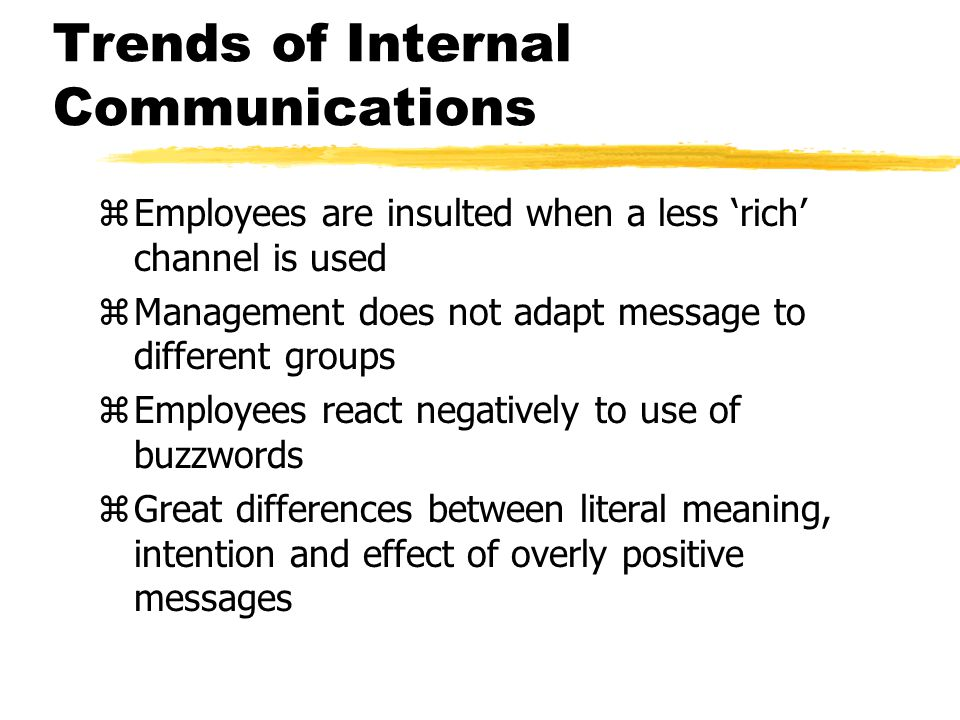 Trends of Internal Communications