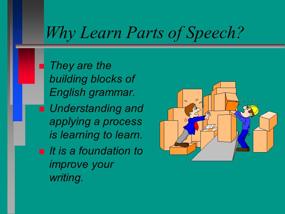 Why Learn Parts of Speech