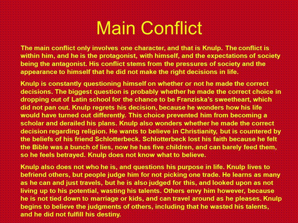 Main Conflict