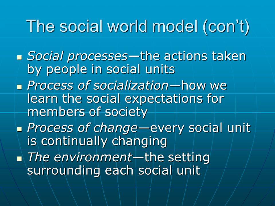 The social world model (con't)