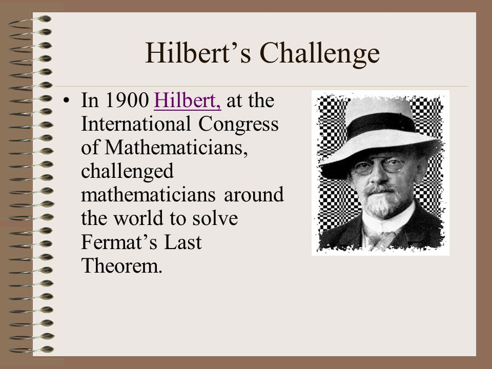 Hilbert's Challenge