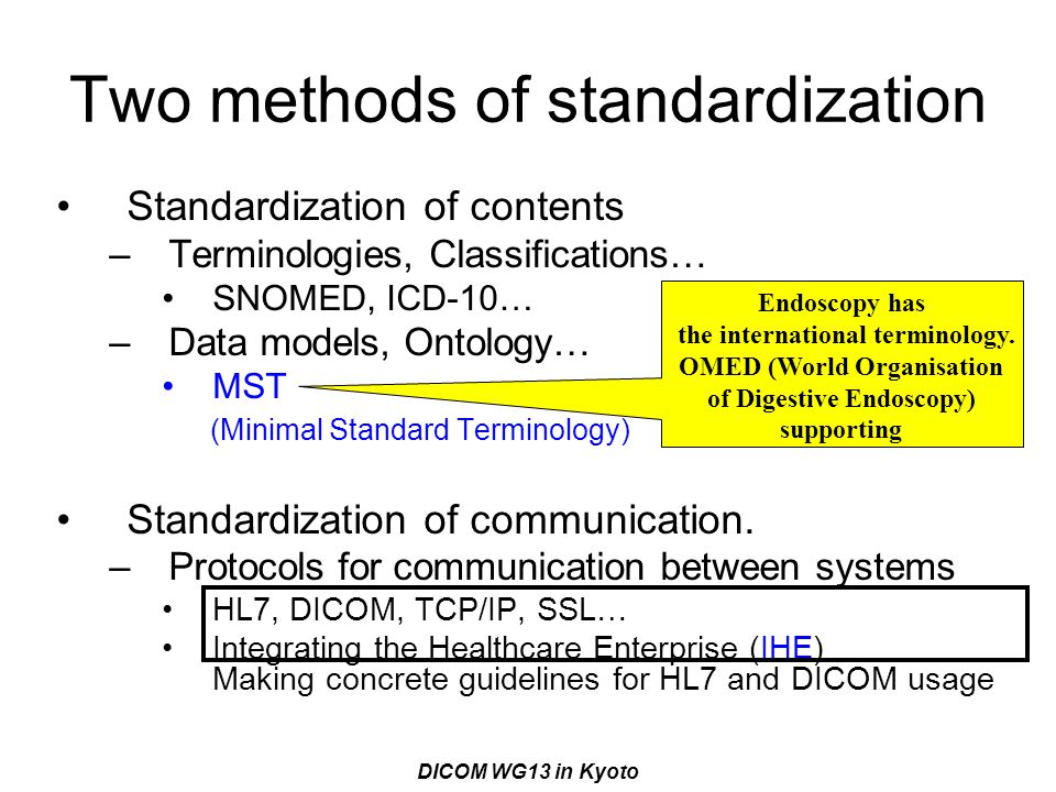 Two methods of standardization