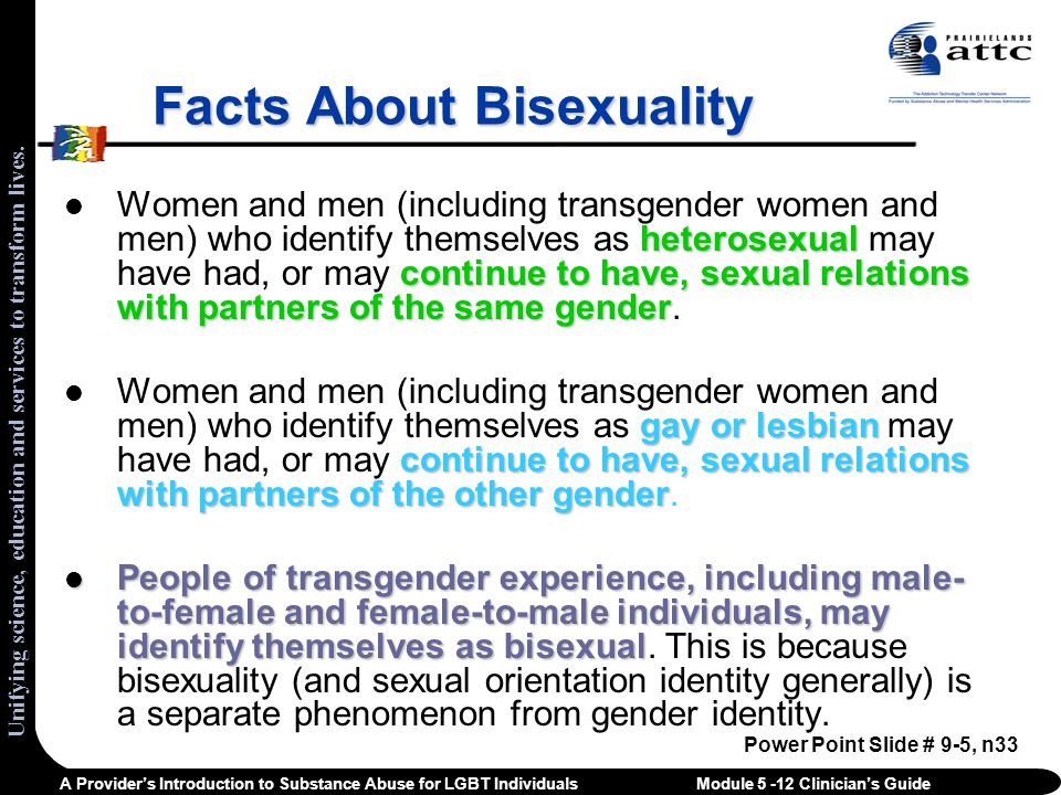 Behaviors of bisexual men
