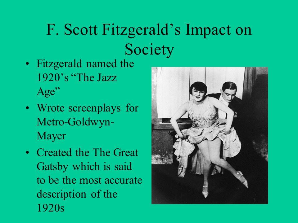 F. Scott Fitzgerald's Impact on Society