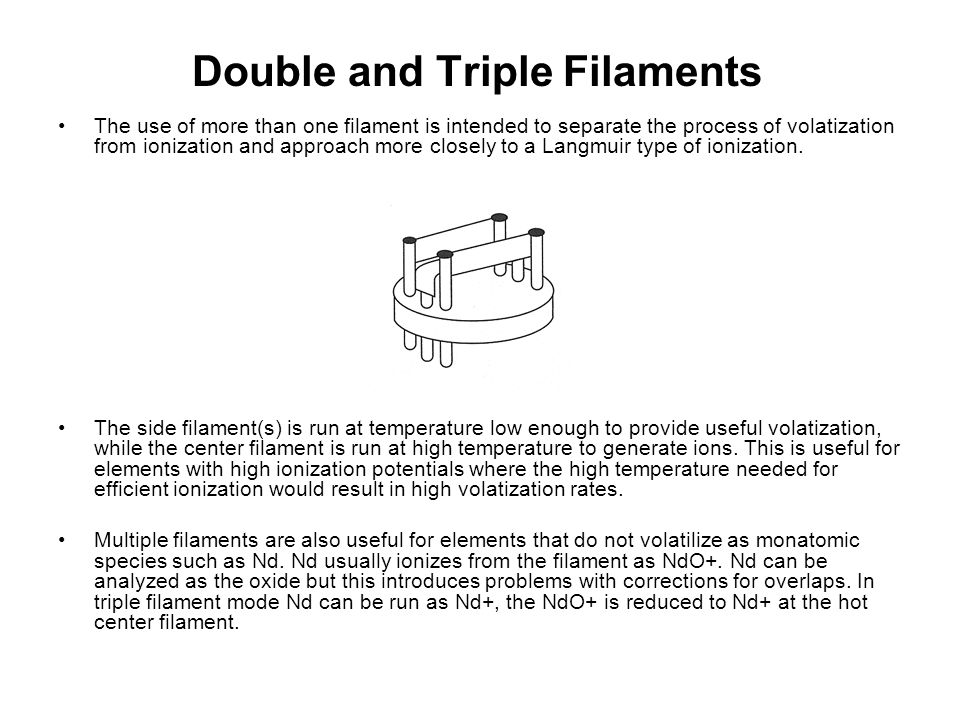 Double and Triple Filaments