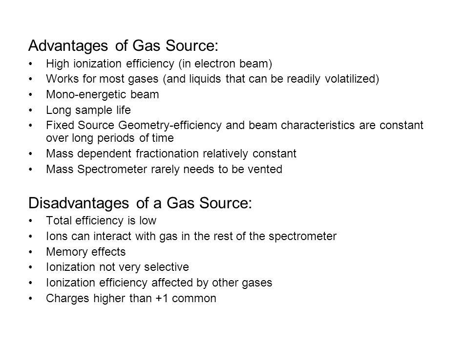 Advantages of Gas Source: