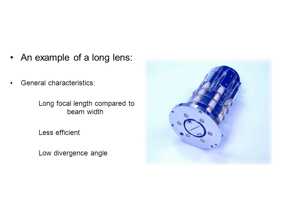 An example of a long lens: