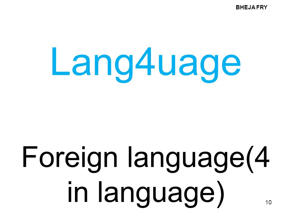 Foreign language(4 in language)