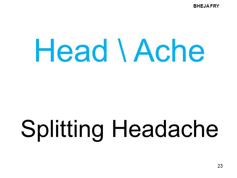 BHEJA FRY Head \ Ache Splitting Headache