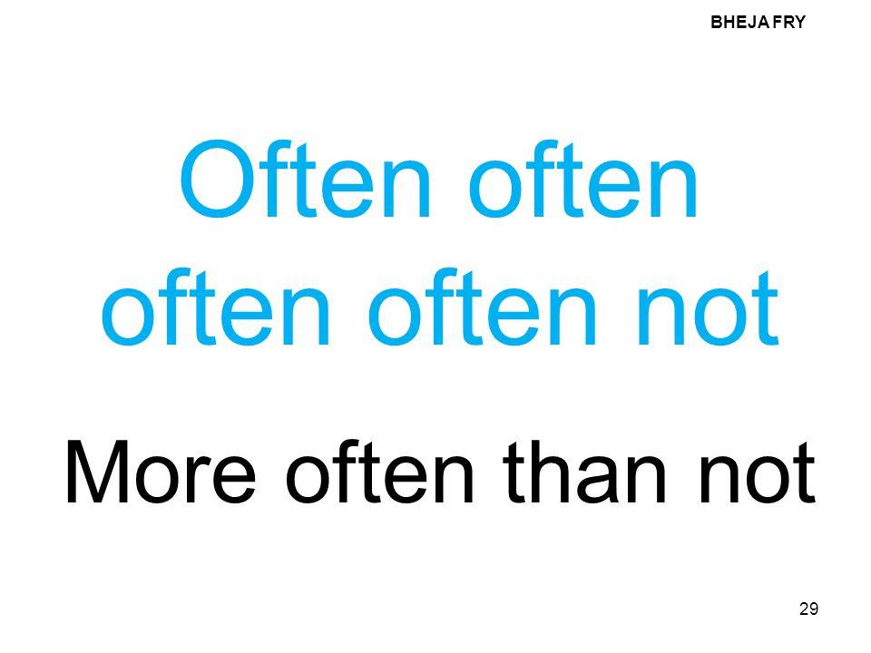 Often often often often not