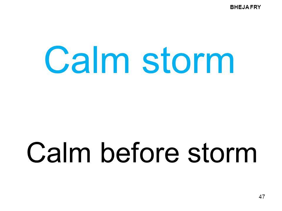 BHEJA FRY Calm storm Calm before storm