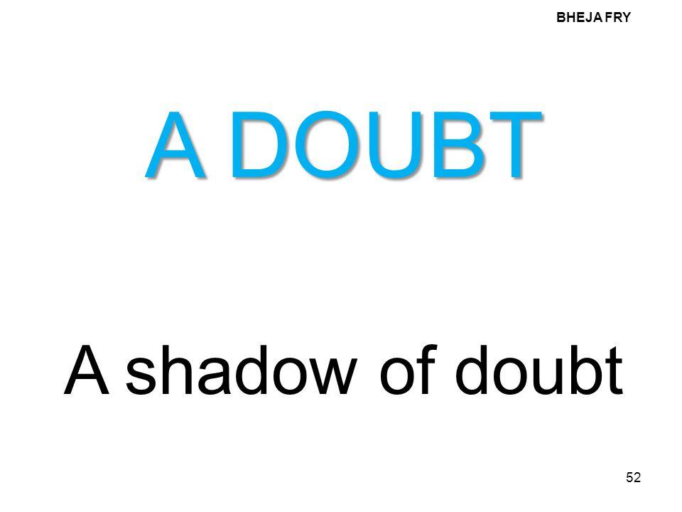 BHEJA FRY A DOUBT A shadow of doubt