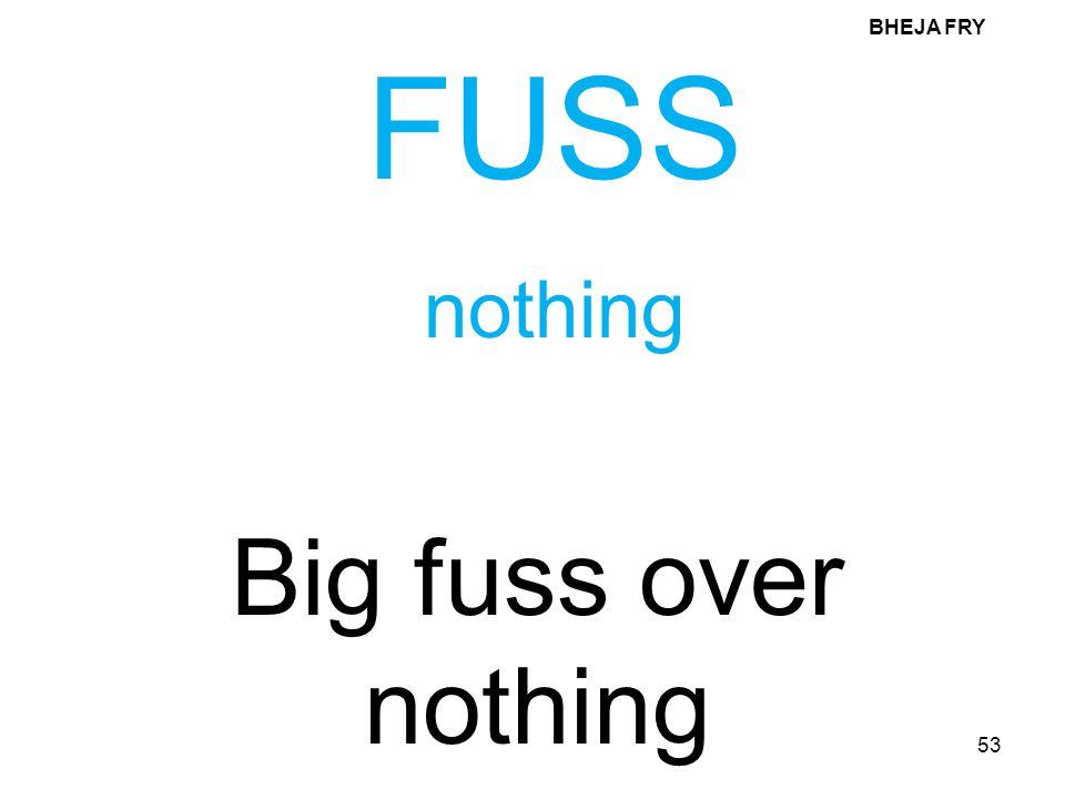 BHEJA FRY FUSS nothing Big fuss over nothing