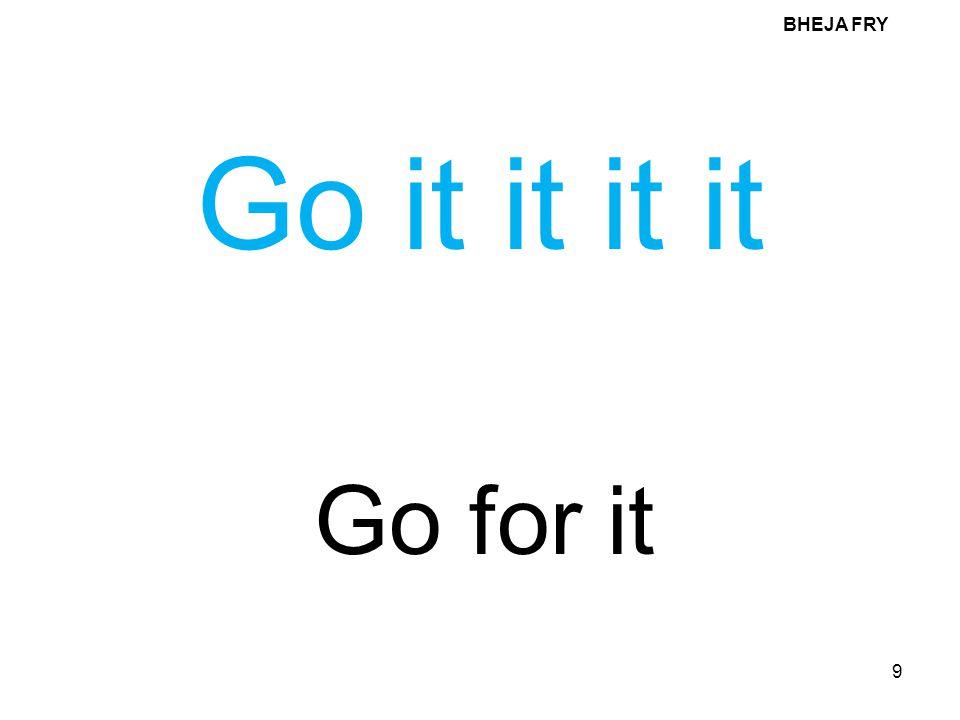 BHEJA FRY Go it it it it Go for it