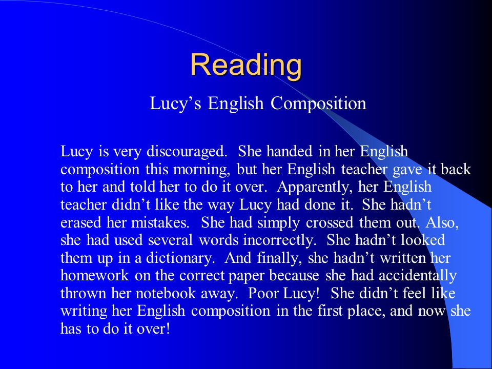 Lucy's English Composition