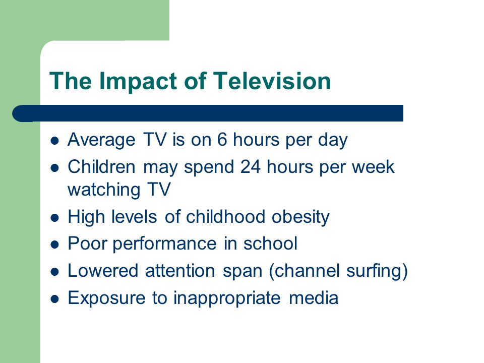 The Impact of Television
