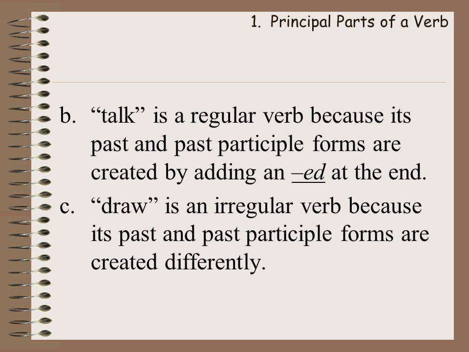 1. Principal Parts of a Verb