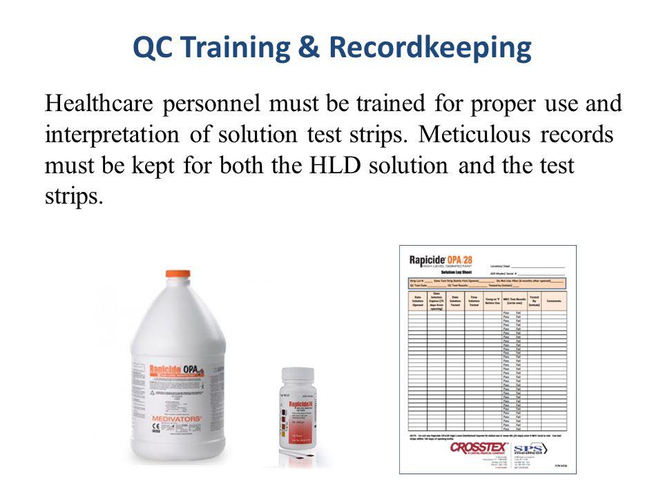 QC Training & Recordkeeping
