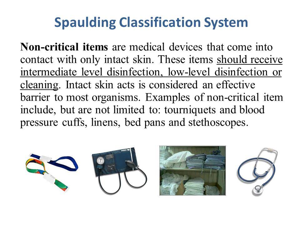 Spaulding Classification System