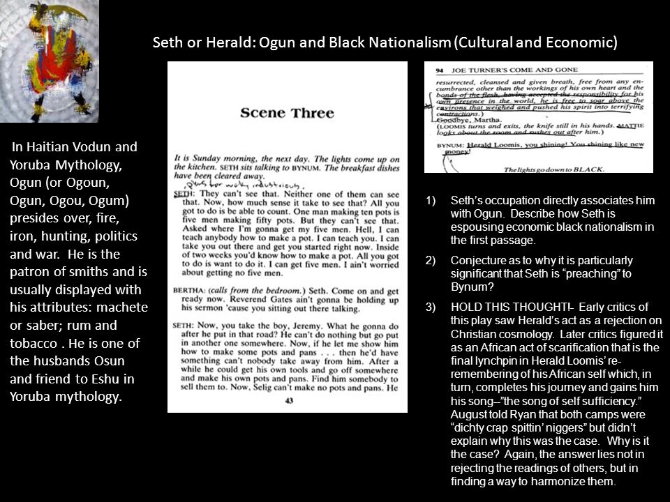 Seth or Herald: Ogun and Black Nationalism (Cultural and Economic)