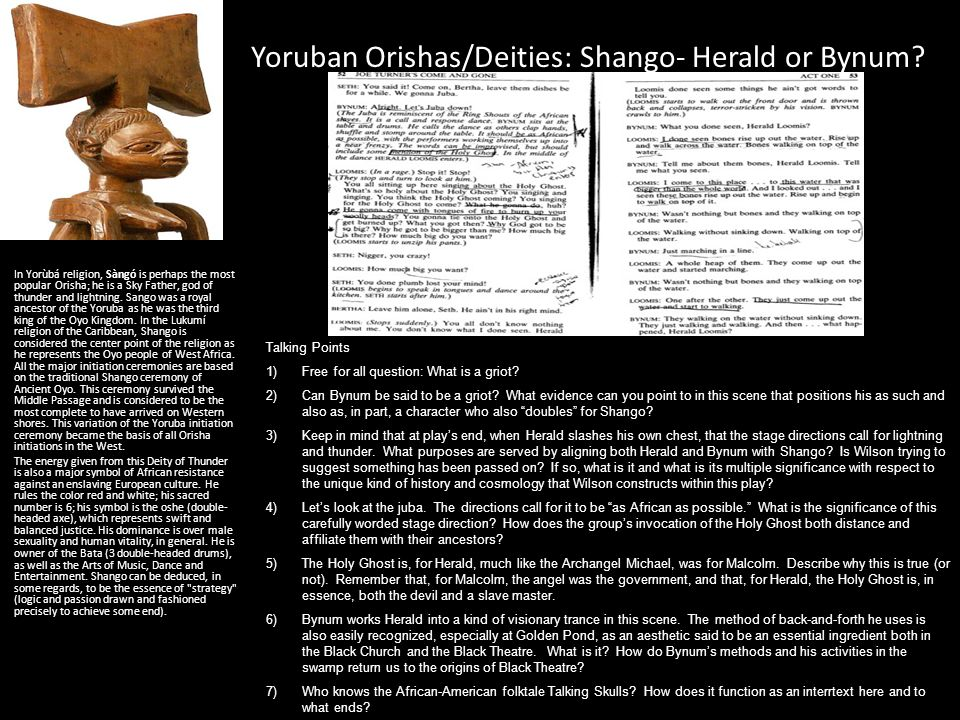 Yoruban Orishas/Deities: Shango- Herald or Bynum
