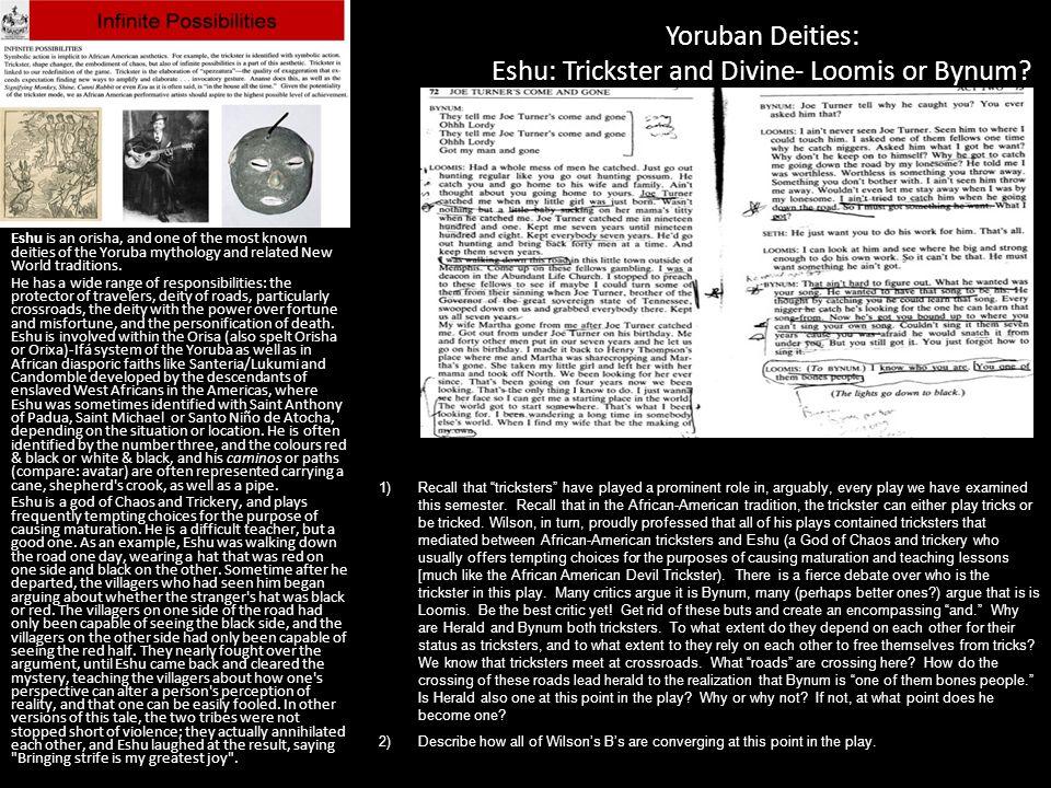 Yoruban Deities: Eshu: Trickster and Divine- Loomis or Bynum