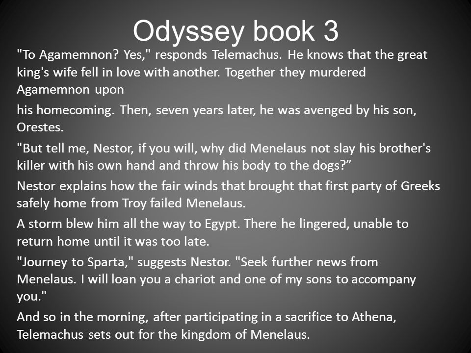 Odyssey book 3