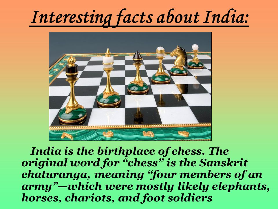 Interesting facts about India: