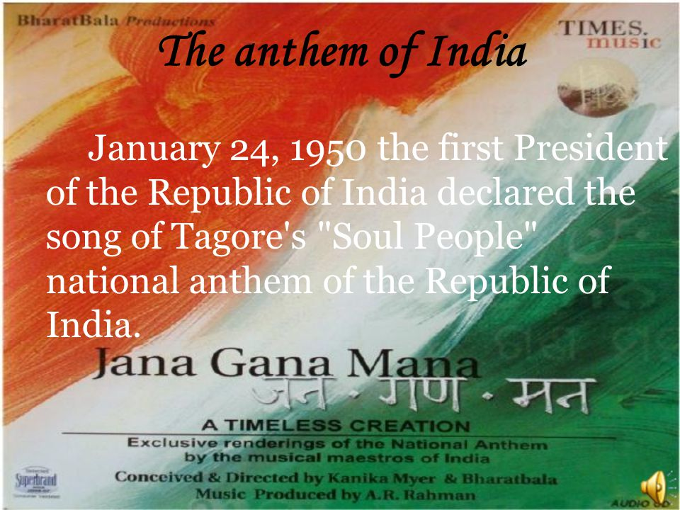 The anthem of India