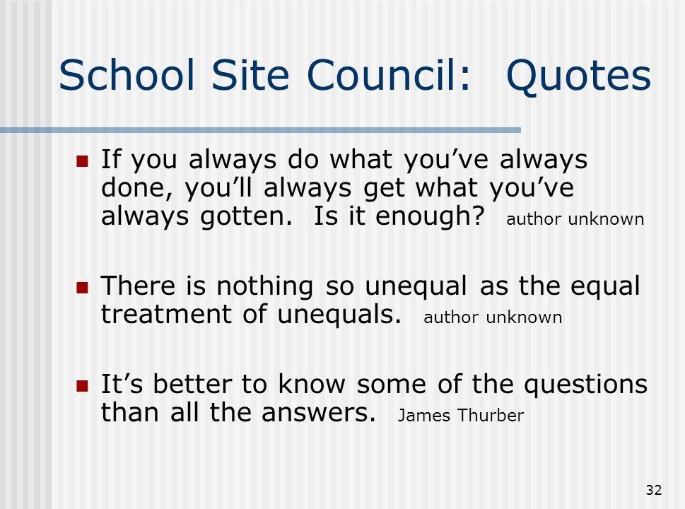 School Site Council: Quotes