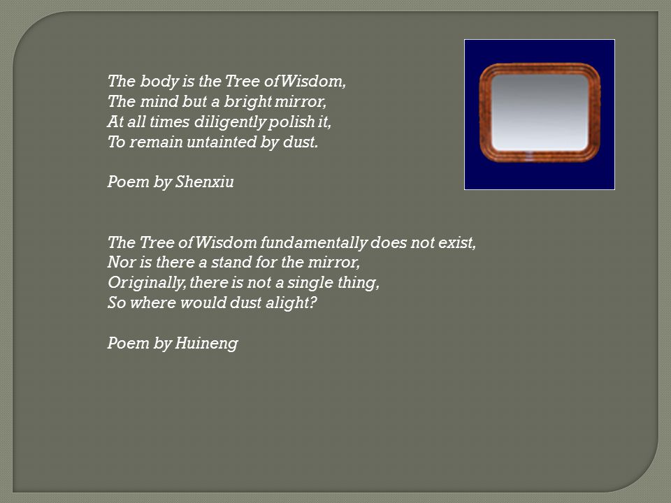 The body is the Tree of Wisdom,