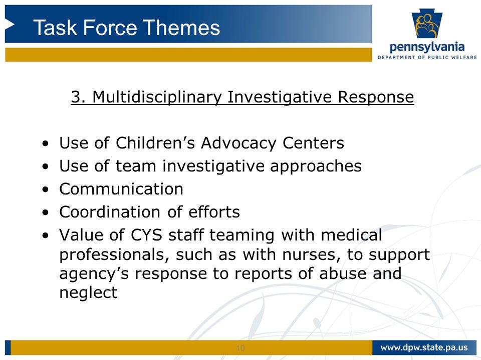 3. Multidisciplinary Investigative Response