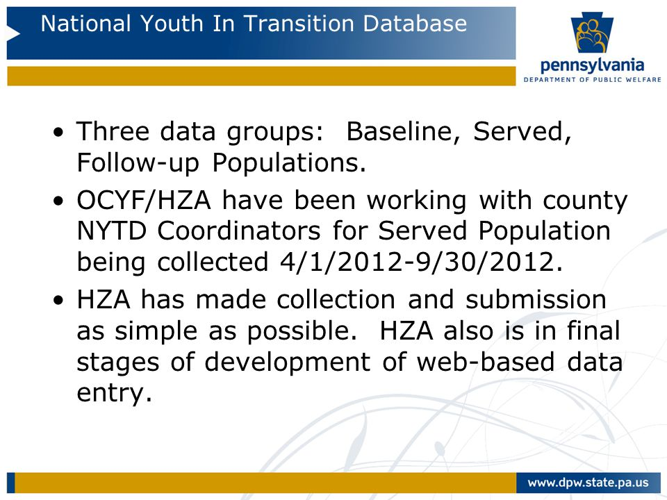 National Youth In Transition Database