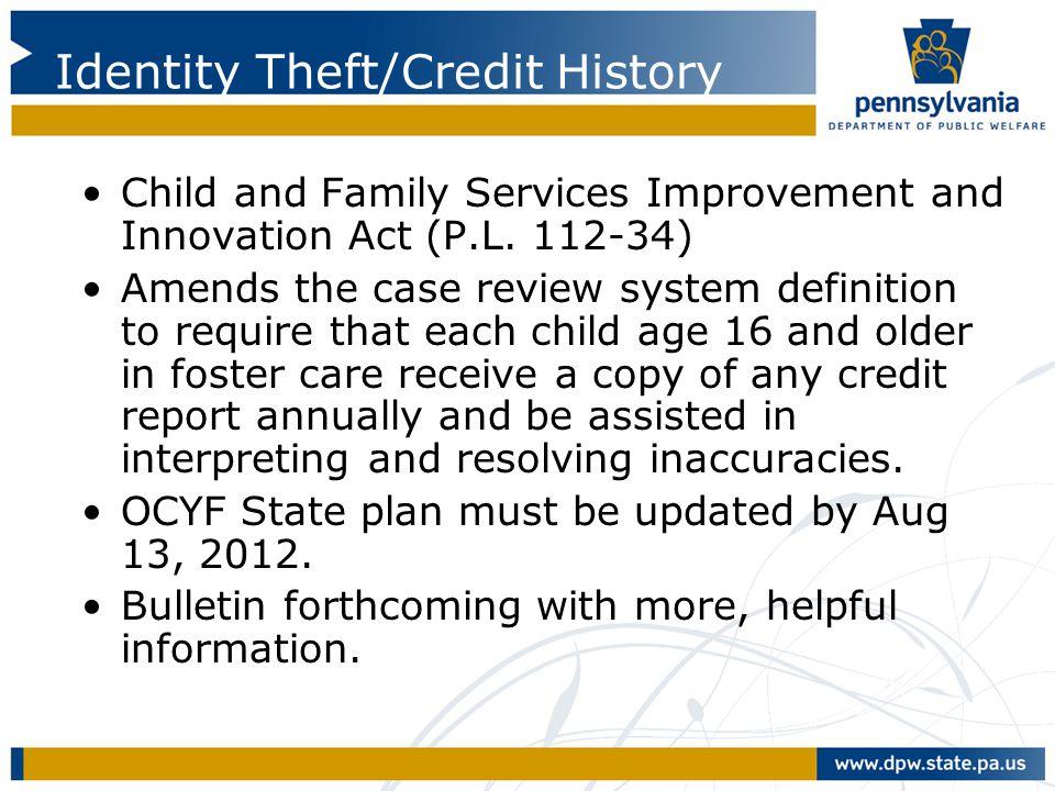 Identity Theft/Credit History